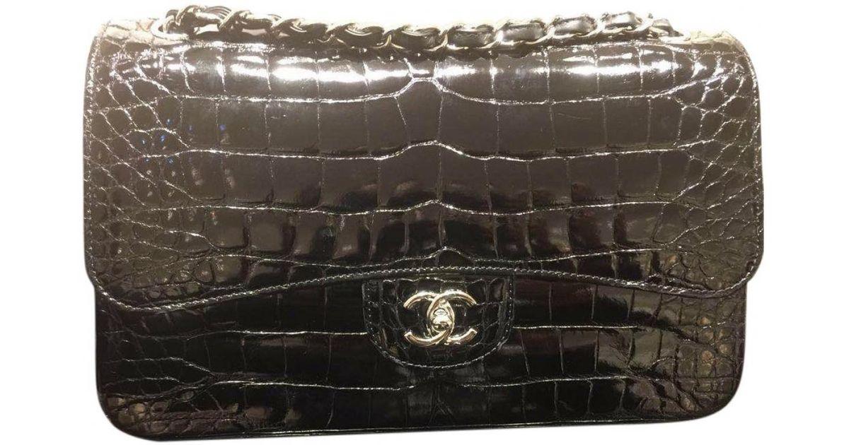 1924078efd15 Chanel Alligator Shoulder Bag in Black - Lyst