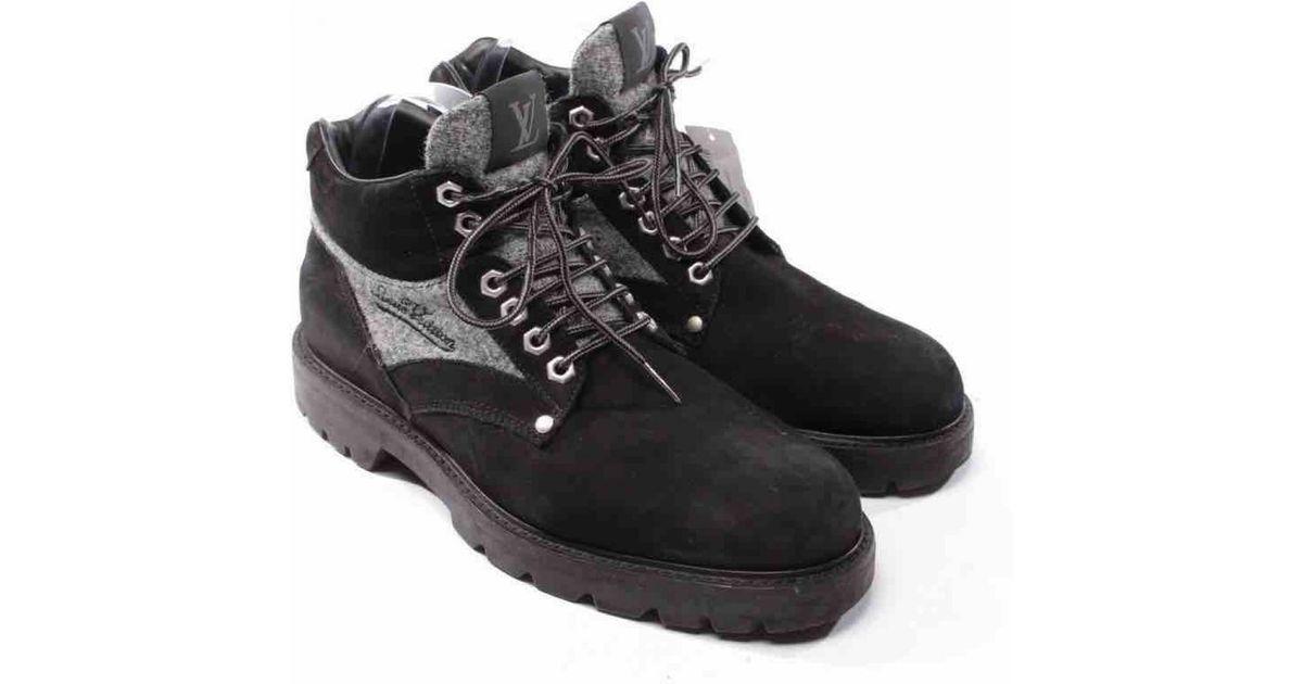 6cdb163e1a Louis Vuitton Black Leather Boots for men