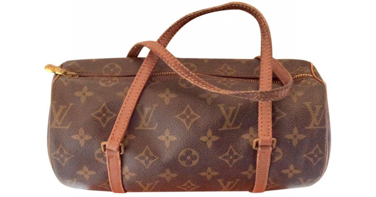 Lyst - Louis Vuitton Vintage Papillon Brown Cloth Handbag in Brown 49bd2b57e215c