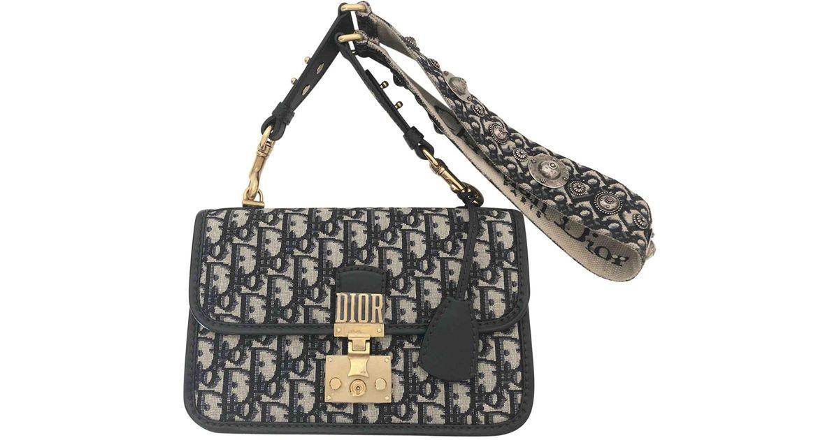 Dior Addict Cloth Crossbody Bag In Blue