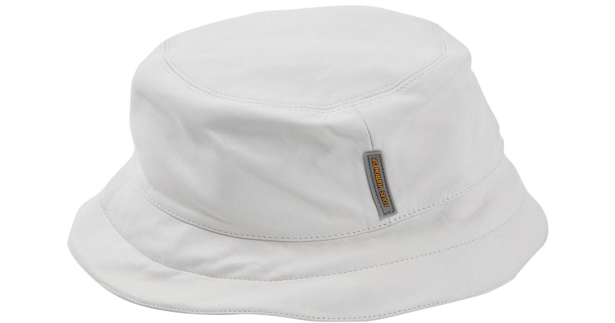 66049aa0cae Lyst - Louis Vuitton Leather Hat in White for Men