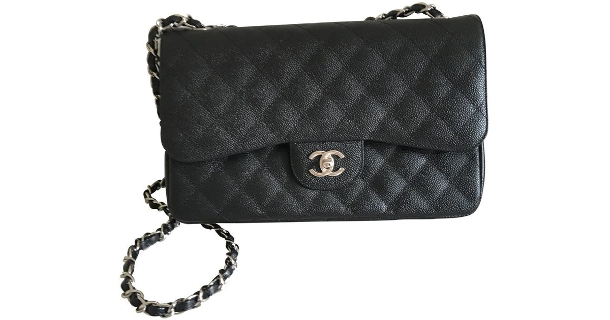 5d88458a17 Chanel Black Timeless Leather Crossbody Bag