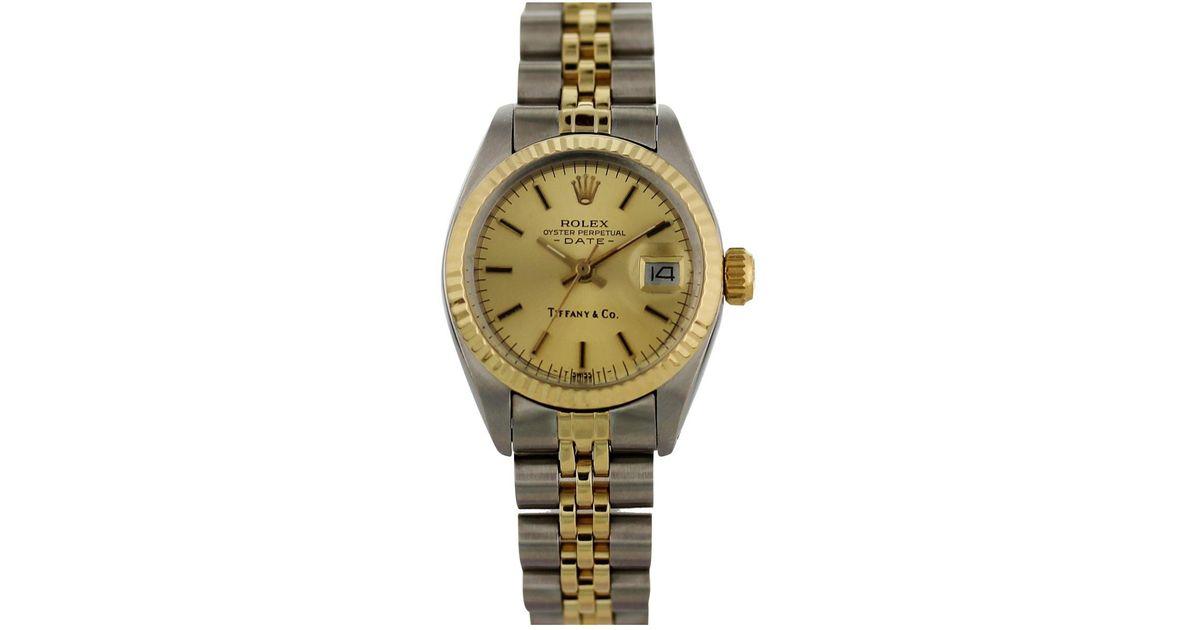 7ea857603619 Lyst - Rolex Lady Oyster Perpetual 26mm Watch in Metallic
