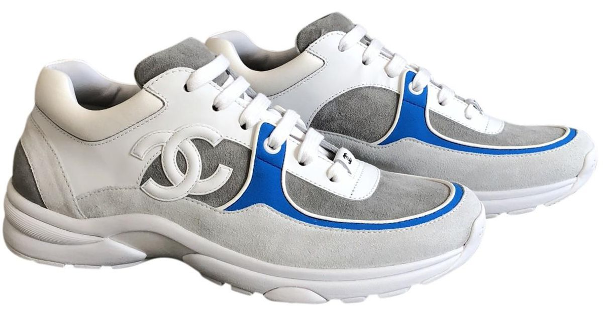 Chanel Leather Trainers in White for