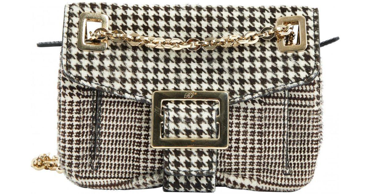 13e56f1c5884 Roger Vivier Black Pony-style Calfskin Handbag in Black - Lyst