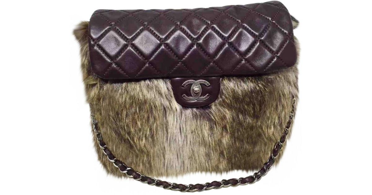 6c8a01d82 Chanel Timeless Leather Handbag in Brown - Lyst