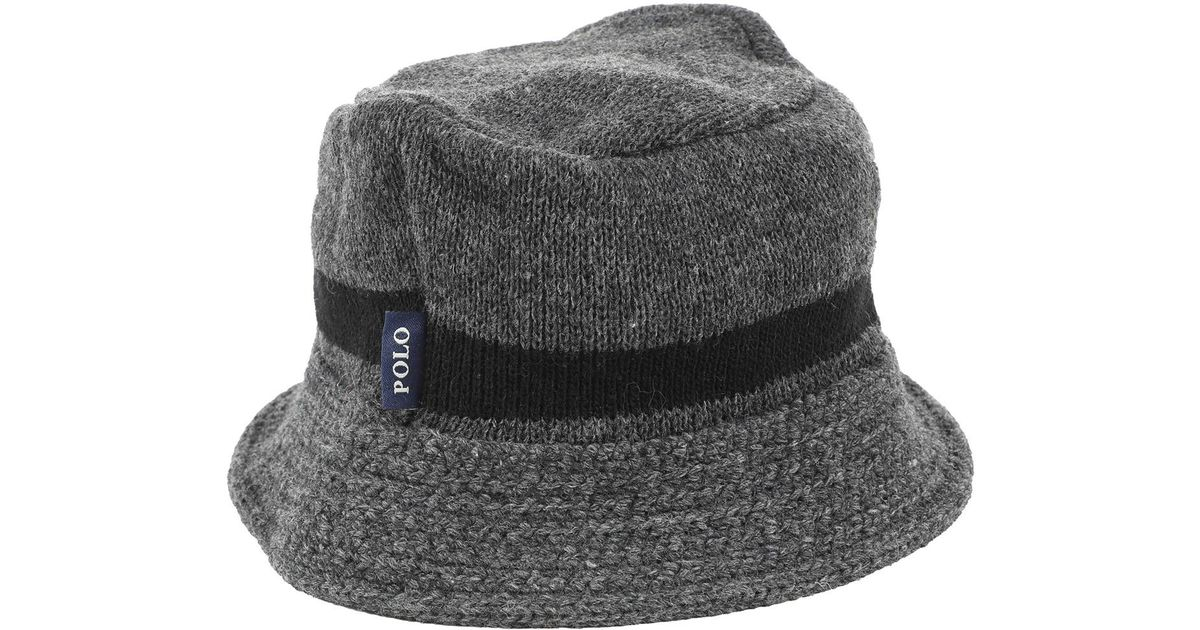 a4a82af8dcd Lyst - Polo Ralph Lauren Pre-owned Grey Wool Hats in Gray
