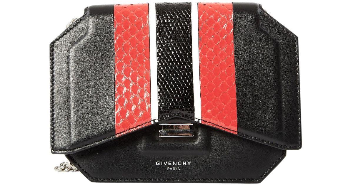 Givenchy Bow Cut Black Python Handbag