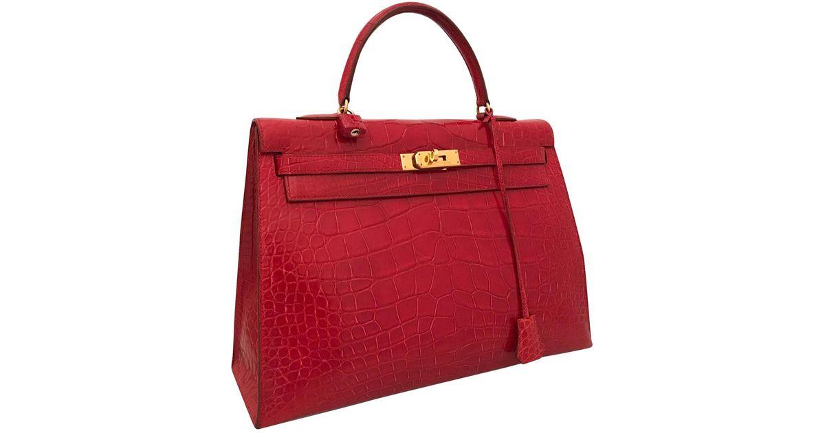 9cd3640b26 top quality 2016 hermes gris mouette blue agate togo leather verso birkin  35cm 99cf7 a1948  get hermès kelly 35 crocodile handbag in red lyst 8e854  3c56e