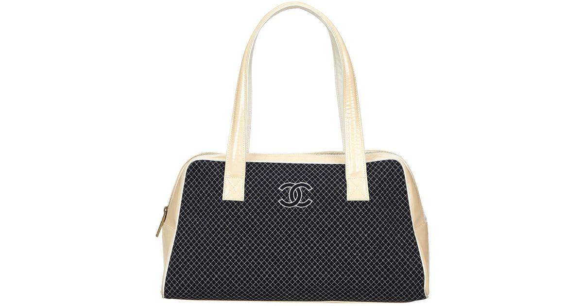 261f5c0ec0b5 Lyst - Chanel Cloth Handbag in Blue