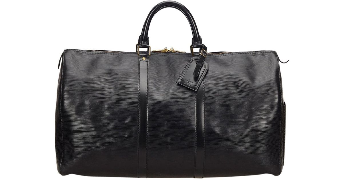 cb920a9fd9f5 Louis Vuitton Pre-owned Leather 48h Bag in Black for Men - Lyst