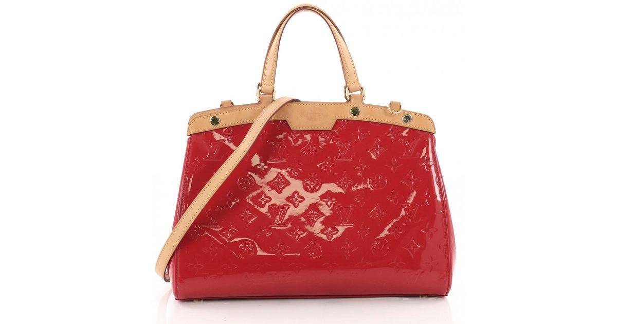 Louis Vuitton Brea Red Patent Leather Handbag Lyst