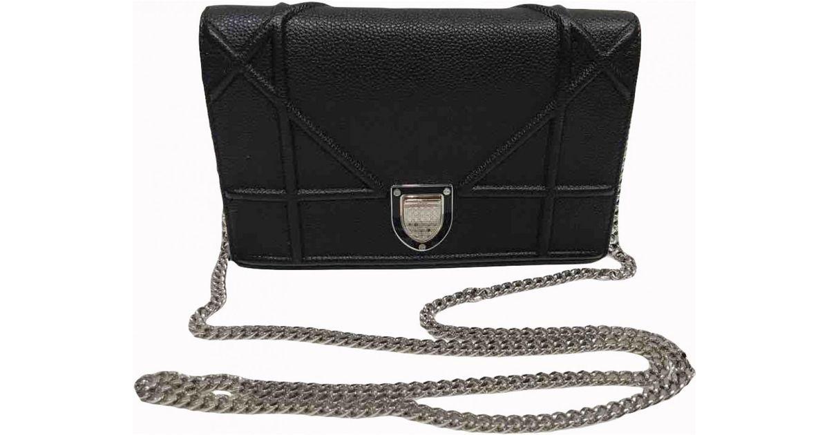 81098df834 Dior Pre-owned Ama Leather Crossbody Bag in Black - Lyst