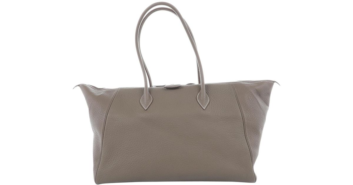 dfde8c30838c4 Hermès Pre-owned Paris Bombay Leather Bag in Natural - Lyst