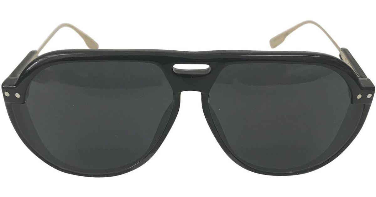 eb01c4d227 Lyst - Dior Pre-owned Club 3 Black Plastic Sunglasses in Black