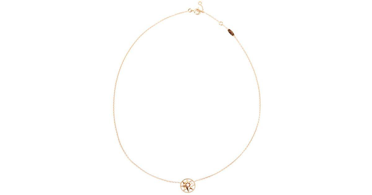 48e101d537 Dior Metallic Pre-owned Rose Des Vents Pink Gold Necklace