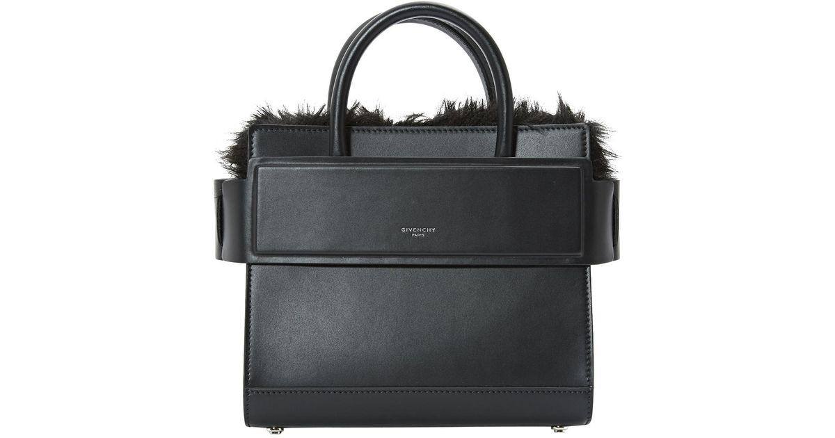 Horizon Cuir Givenchy Bandoulière Sac Coloris Lyst En Noir HYWD29EI