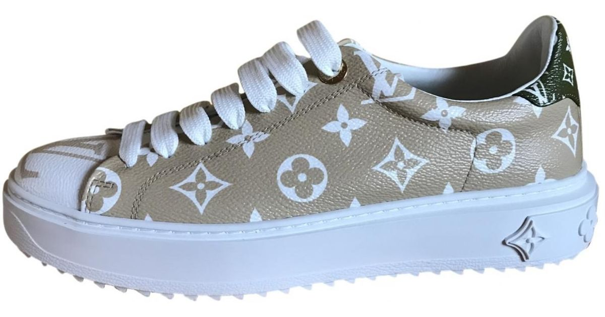 16df2acdc9e Louis Vuitton Natural Timeout Beige Leather Trainers