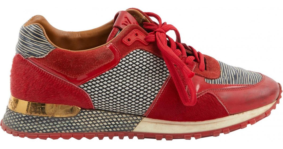 dd6adba42944 Louis Vuitton Trainers in Red - Lyst
