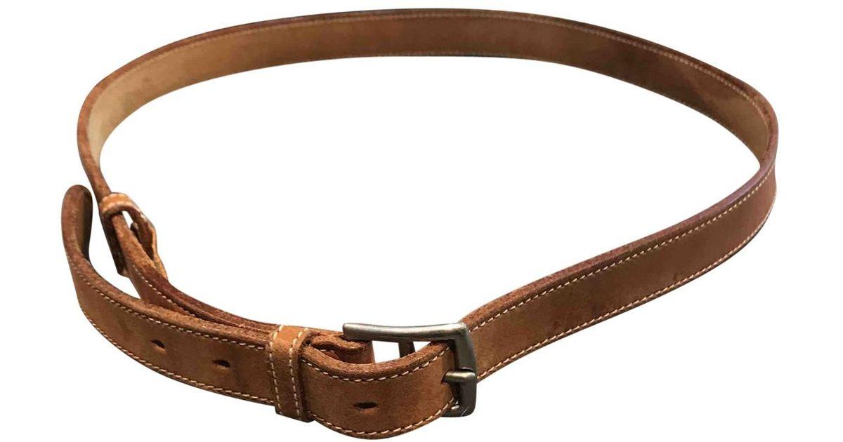 090eddfde56 Lyst - Ceinture Etrivière en cuir Hermès pour homme en coloris Marron