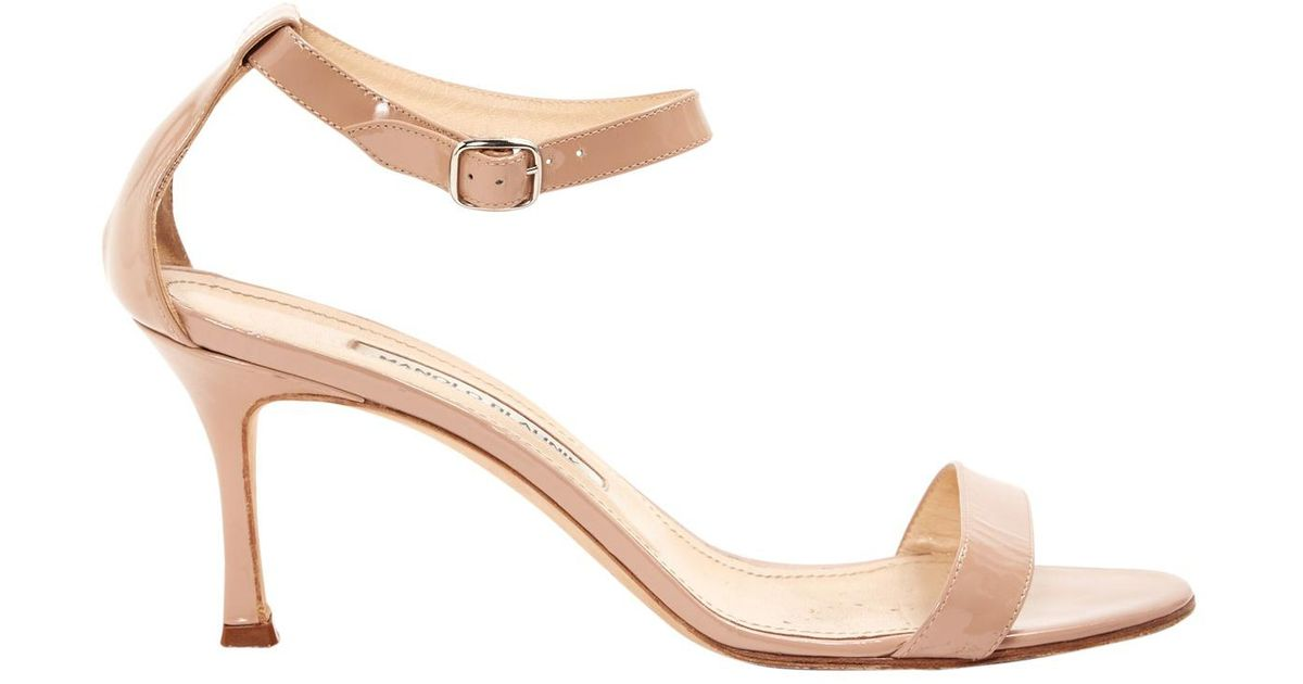 Pre-owned - Leather sandals Manolo Blahnik mQXeBLG