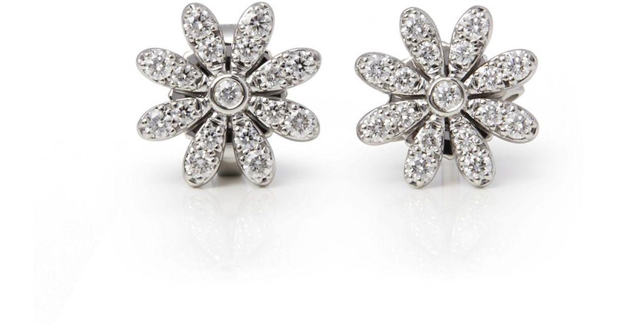 Tiffany Co White Paloma Pico Platinum Earrings