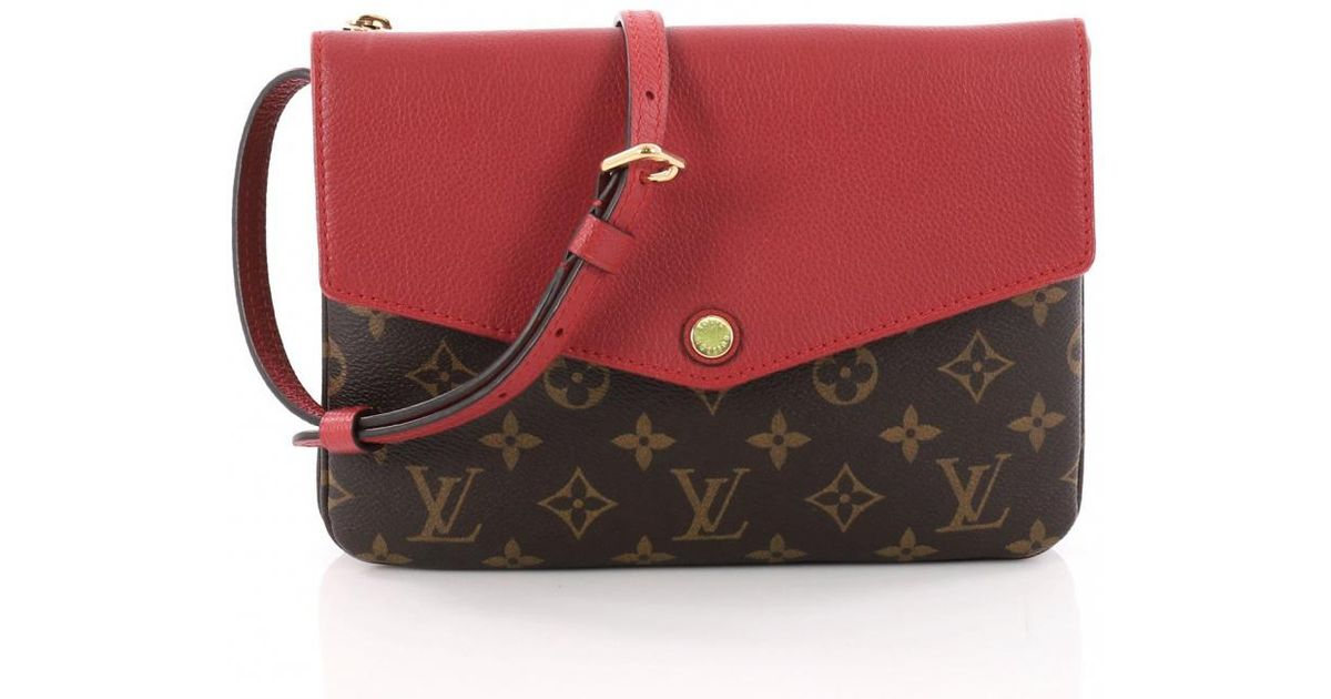0fc20367c10c Lyst - Louis Vuitton Twice Cloth Crossbody Bag in Red