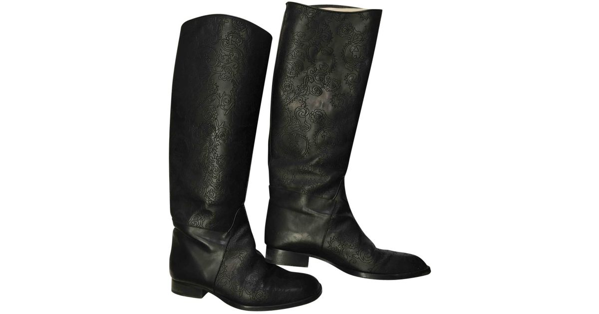Pre-owned - Leather riding boots Rochas Clearance Cheap Real Cheap Sale Get Authentic KYvEmm