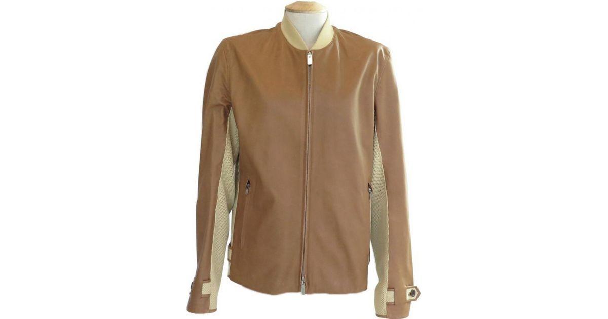 343b5165f57 Lyst - Veste en cuir Hermès pour homme en coloris Marron