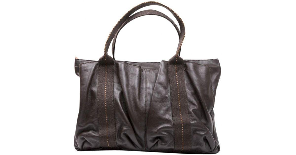 03399a55fd3c Lyst - Hermès Garden Party Brown Leather Handbag in Brown