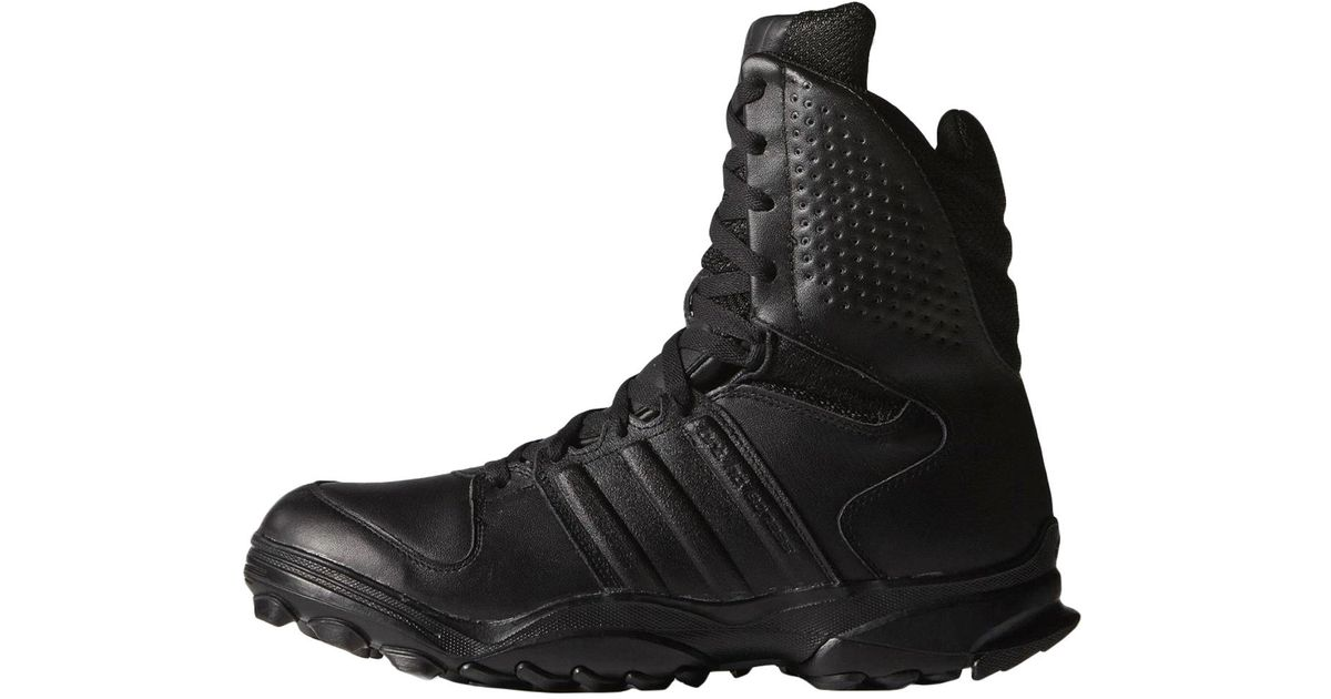 adidas Leather Boots in Black for Men