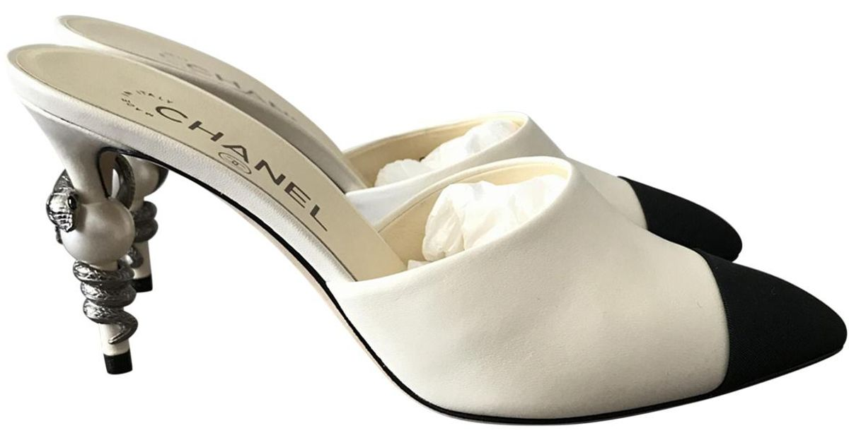 Chanel Leather Mules \u0026 Clogs in White