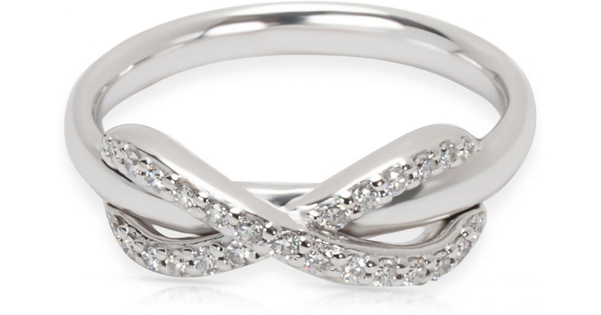 16b60550e Tiffany & Co. Tiffany Infinity Other White Gold Ring in Metallic - Lyst