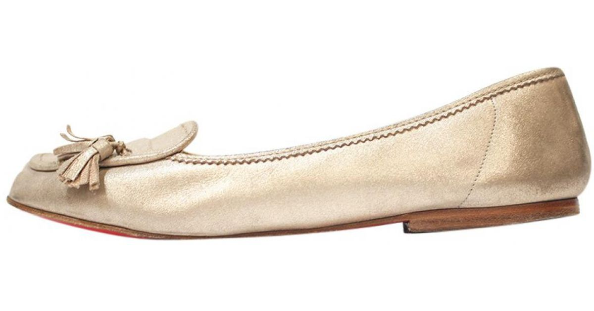 Pre-owned - Leather flats Christian Louboutin Big Discount Cheap Online The Cheapest For Sale wqThy7f1pZ