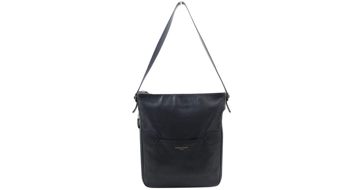 Sac Longchamp Coloris Cuir Black Bandoulière En vm80Nnw