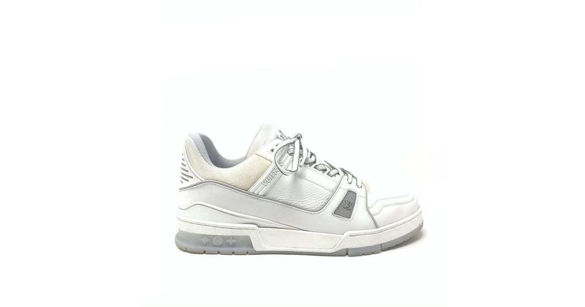 outlet online buy cheap for sale Louis Vuitton Lv Trainer White Leather Trainers for Men - Lyst