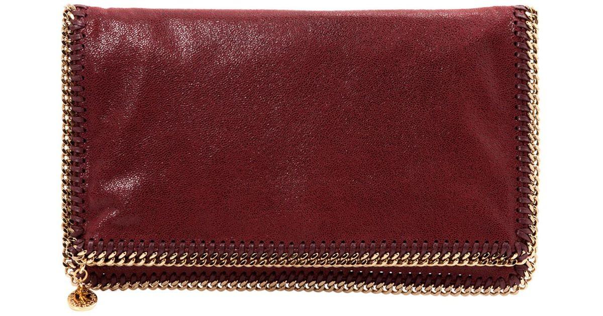 23ced9aea1f642 Lyst - Stella Mccartney Pre-owned Falabella Clutch Bag in Red