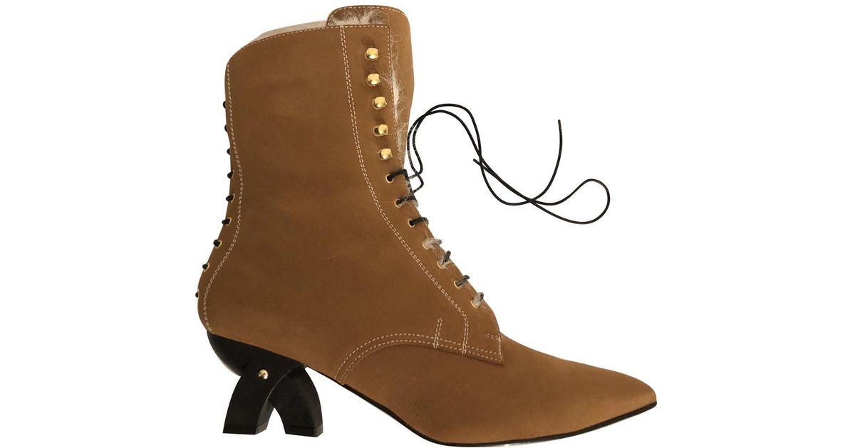 Pre-owned - Boots Loewe QEFHD