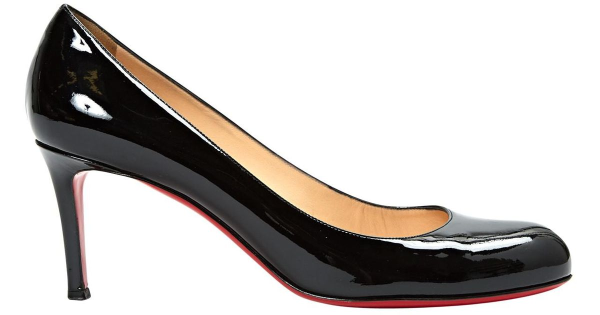 sale retailer a3bd4 561b2 Christian Louboutin - Black Pre-owned Patent Leather Heels - Lyst