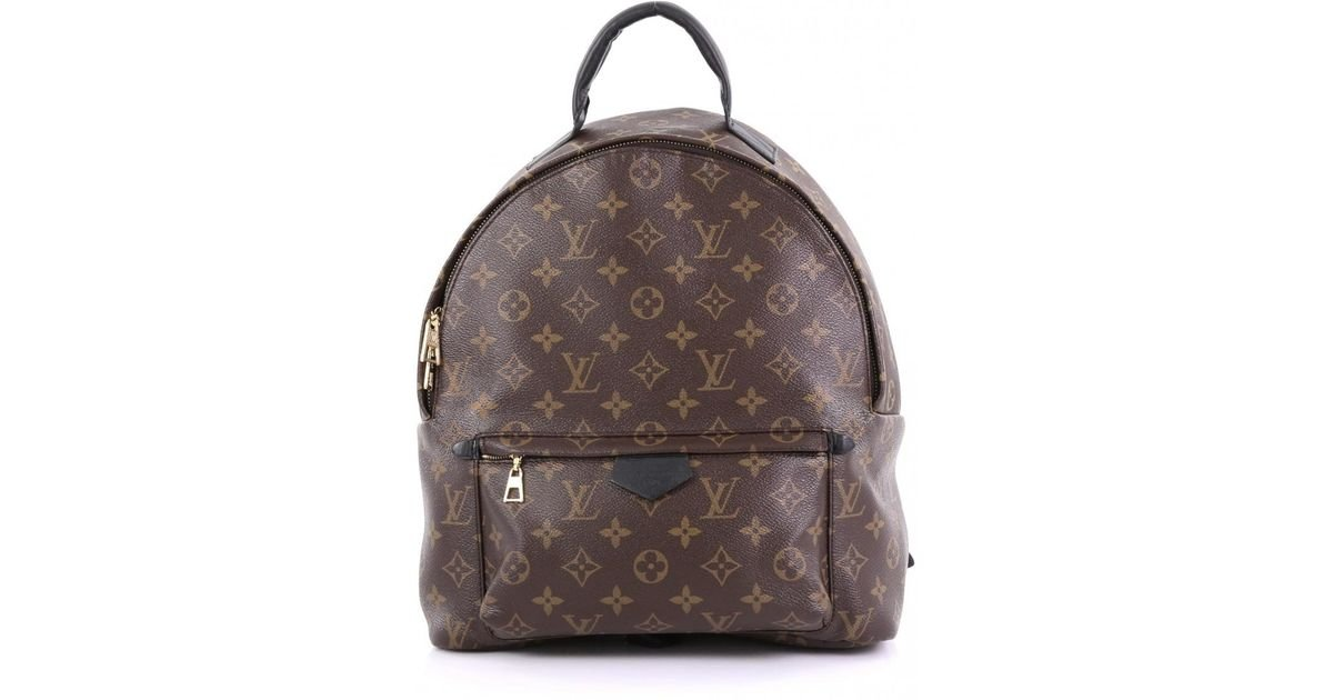 7d0a20ab9fb5 Lyst louis vuitton pre owned palm springs brown cloth backpacks in brown  jpg 1200x630 Cloth backpacks