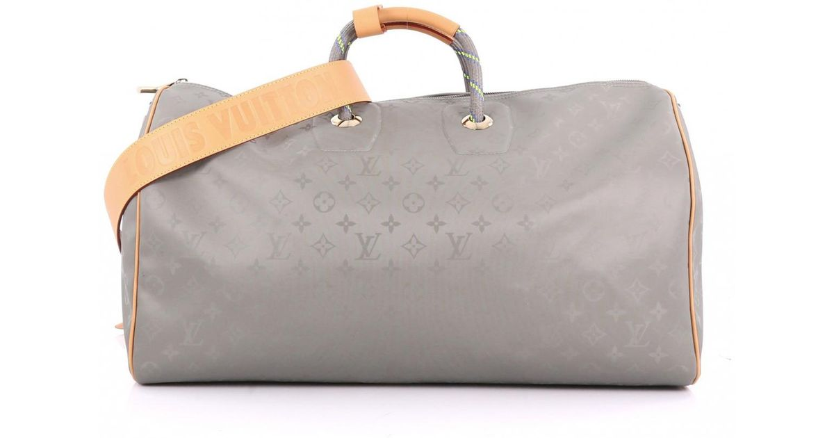 f4a571901 Louis Vuitton Keepall Cloth Travel Bag in Gray - Lyst