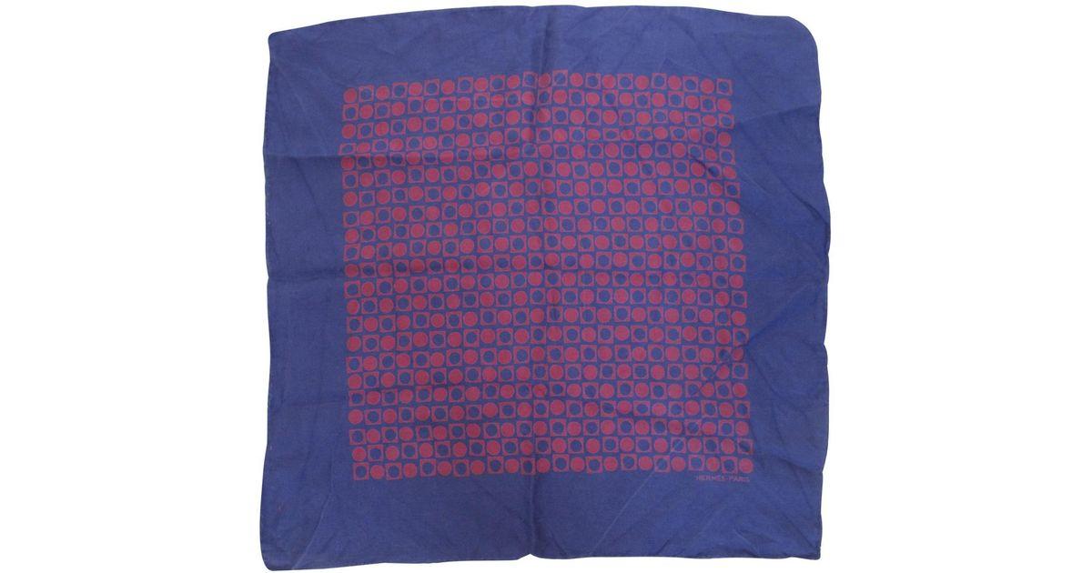 dca8787e58f2 Lyst - Foulard Gavroche 45 en soie Hermès pour homme en coloris Violet