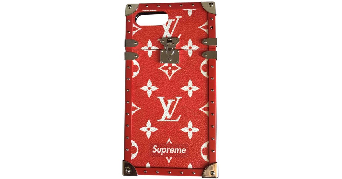 huge selection of dee4b b7300 Louis Vuitton Red Iphone Case