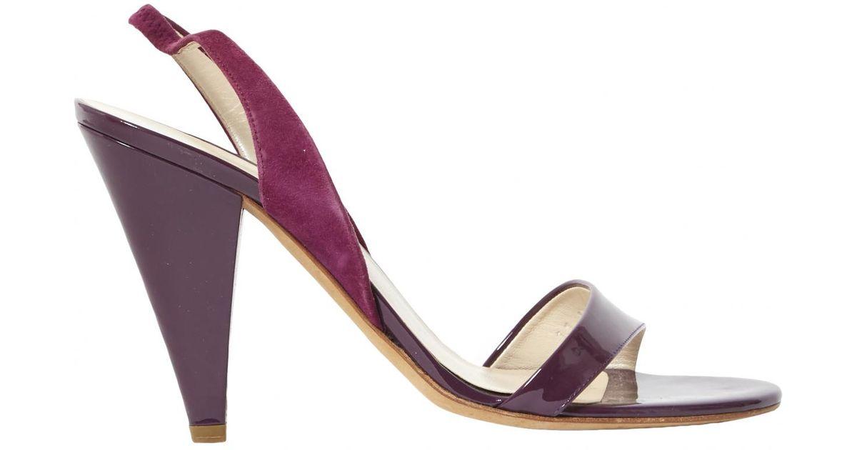 448d64f94ea Lyst - Sandales en cuir verni Dior en coloris Violet