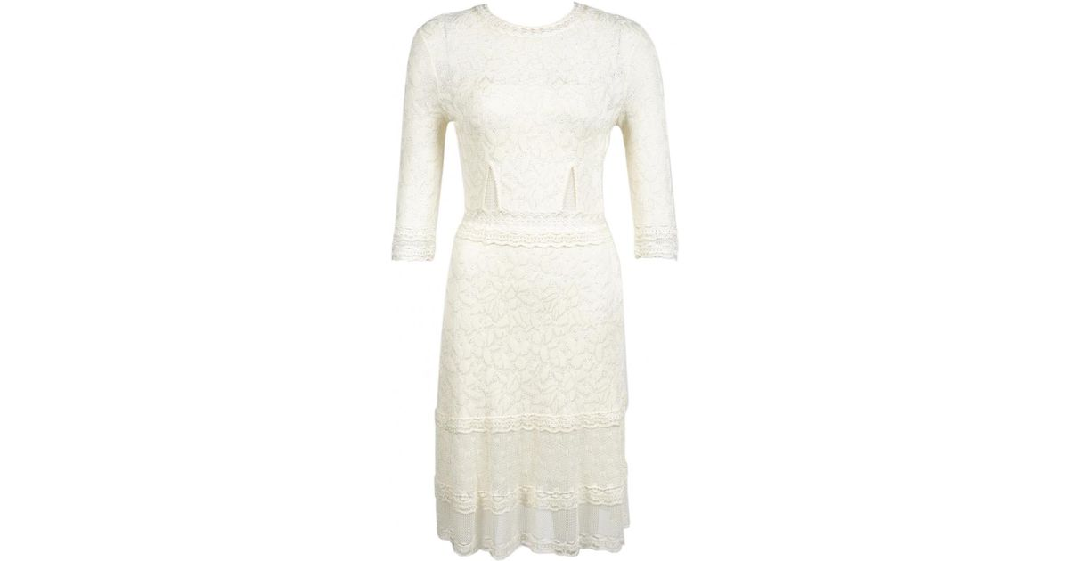 Dior White Mid Length Dress