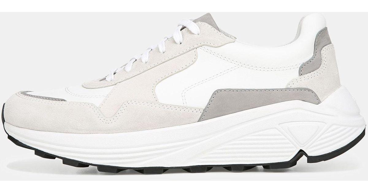 Vince Leather Eastside Sneaker in White