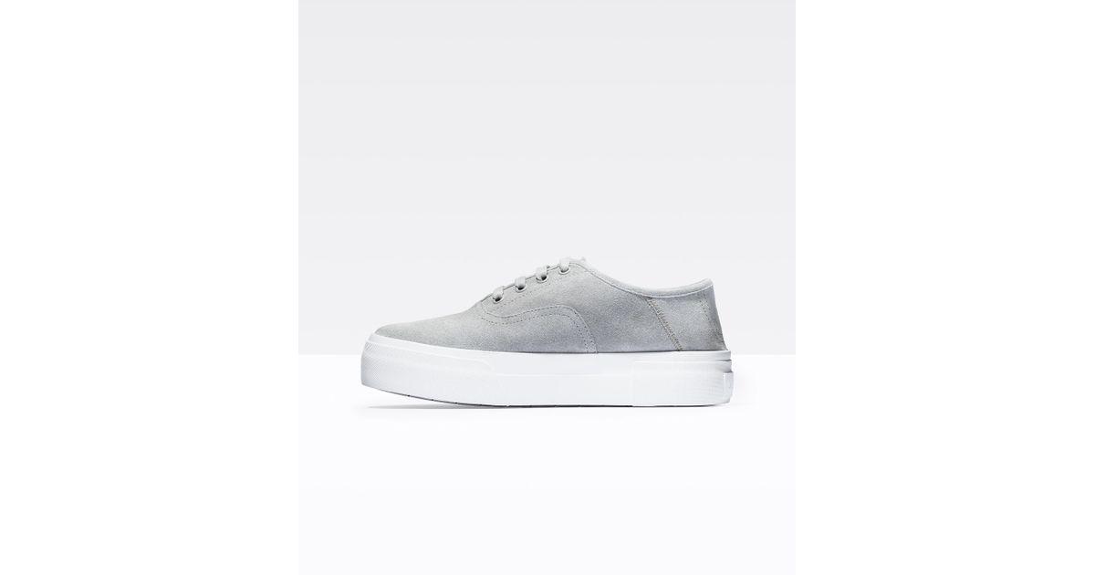 ed4bbd08041 Lyst - Vince Copley Suede Sneaker in White
