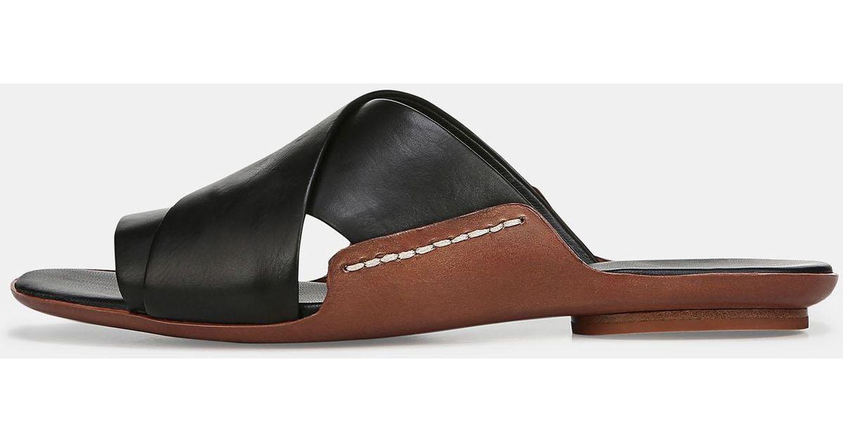 Vince Tamara Leather Sandals in Black