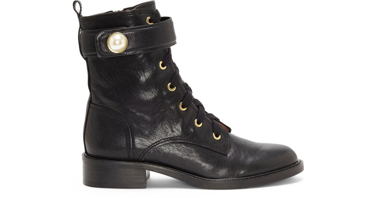 2b1c7b447d Lyst - Vince Camuto Louise Et Cie Velka – Military Bootie in Black