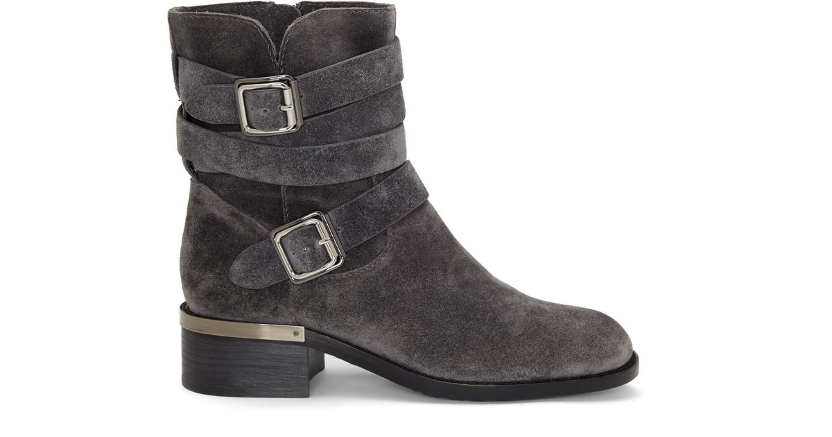 Vince Camuto Webey Moto Bootie In Black Lyst